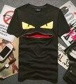 2015 NOVA Top hop AFASTAR olho pequeno zíper boca t-shirt de algodão amante tshirt ocasional de manga curta camiseta de marca tag etiqueta T336