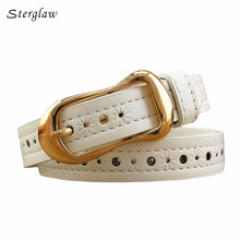 luxury brand Hollow decorative belts for women thin Strap 2017 female fashion Slimming leather belt for dress Jeans riem F105