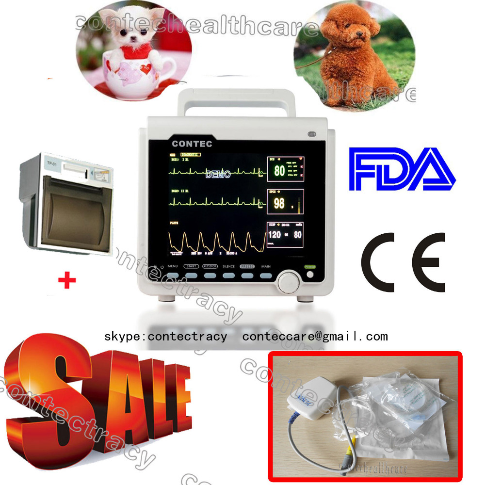 CE VET Veterinary ICU Patient Monitor 6-parameters CONTEC CMS6000(ETCO2+Printer) 4x lot hot rasha quad 7 10w rgba rgbw 4in1 dmx512 led flat par light non wireless led par can for stage dj club party