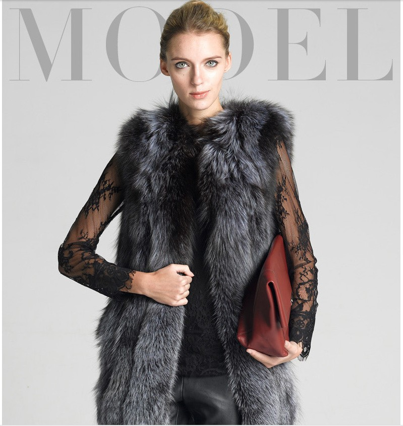New Fashion Women Winter Fur Coat Slim Warm Faux Plus Size Fur Vest Thicken Vintage Women Faux Fur Gilet Coat Free Shipping