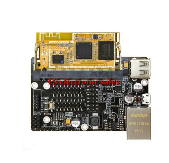 DFRobot Genuine WRTnode2R Mini Openwrt Dev board Kit, CPU(MTK MT7688AN) + MCU(STM32F103T8U6) support Dual-OS desktop Linux etc