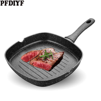 28cm Maifan Stone Square Steak Pan Non Stick Frying Pan Barbecue Steak special striped Pan for Home Outdoor Camping Cookware