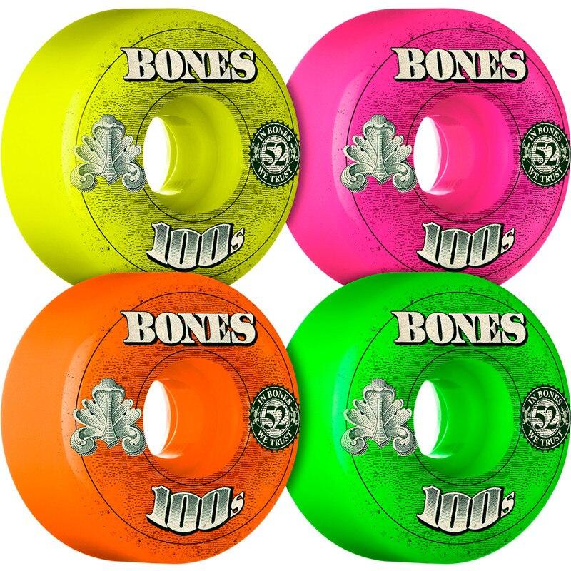 USA Brand 100S OG 4PCS Skateboard Wheels 52mm 53mm 54mm Double Rocker Wheels Durable Aggressive Rodas Skate