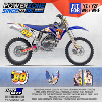 PowerZone Customized Team Graphics Backgrounds Decals 3M Custom Stickers For YAMAHA YZF250 450 06 09 WR250F/450F 07 13 07 11 122