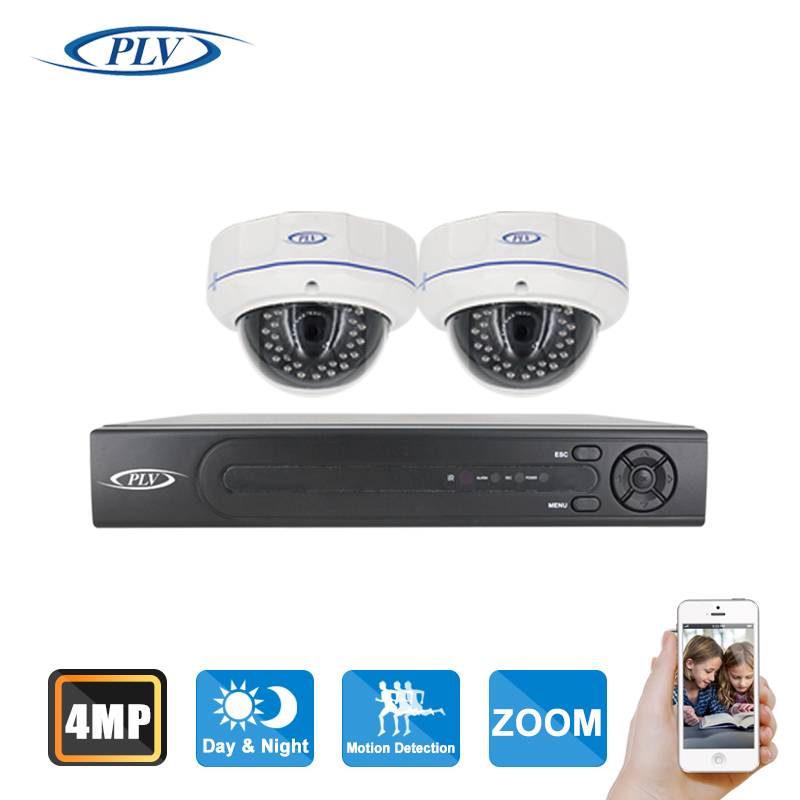 PLV best h.265 4MP POE NVR Kit with 4.0mp Dome IP Camera ...
