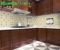 60cm*5m/roll Waterproof oil high temperature stove kitchen cabinet smoke wall stickers thickening maeseyck magic