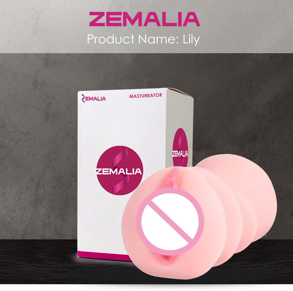 ZEMALIA Lily Male Masturbator Adult Sex Toys Vagina Anal Pussy TPE Artificial Pink Vagina Skin Masturbation Sex toys for Men