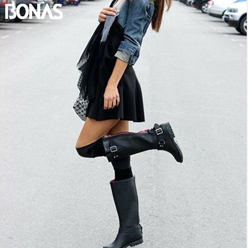 BONAS Women Warm Stockings Plus Size Lower Leg 32cm  Knee Thick Warm Girls Stockings Winter Long Female Girl Sexy Stocking