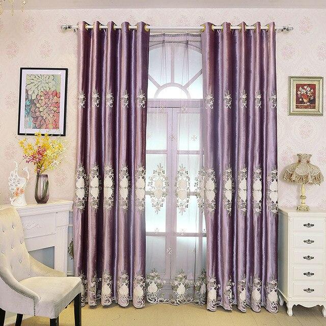 Style Europe classica tenda per soggiorno, ricamato in tulle per la ...