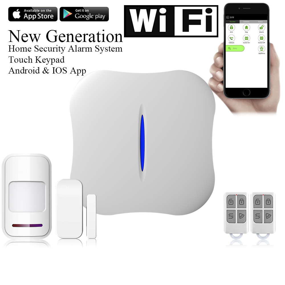 W1 WIFI Alarm System Home Burglar Security PSTN Intelligent Android IOS APP Control Wireless PIR Detector w1 wifi pstn burglar alarm for home villa super safe anti theft pet friendly pir alarm system