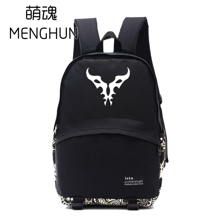 ONLINE game character emblem printing backpacks NB158