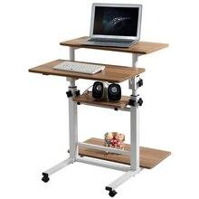Я Ци Нескользящие Простые Модные мобильный настольный comter стол подъемный стол резюме Бесплатная доставка