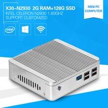 Горячие На Продажу XCY Мини-Компьютер Мощный ПРОЦЕССОР Celeron N2930 Quad-core1.83GHZ DDR3 2 Г RAM 128 Г SSD Volant PC Windows 8