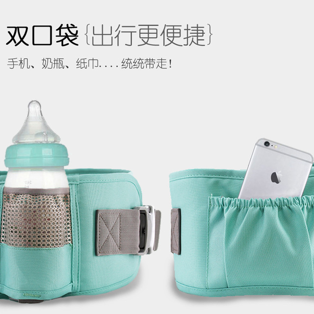 AIEBAO Breathable Ergonomic Baby Carrier Backpack Portable Infant Baby Carrier Kangaroo Hipseat Heaps Baby Sling Carrier Wrap 5