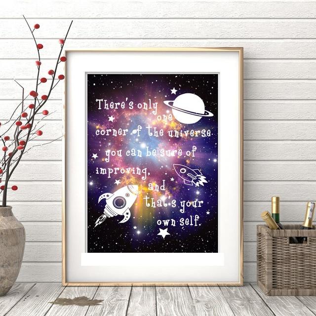 Astratto Spazio Universe Galassia Nebulosa Stars Photo Art Poster ...