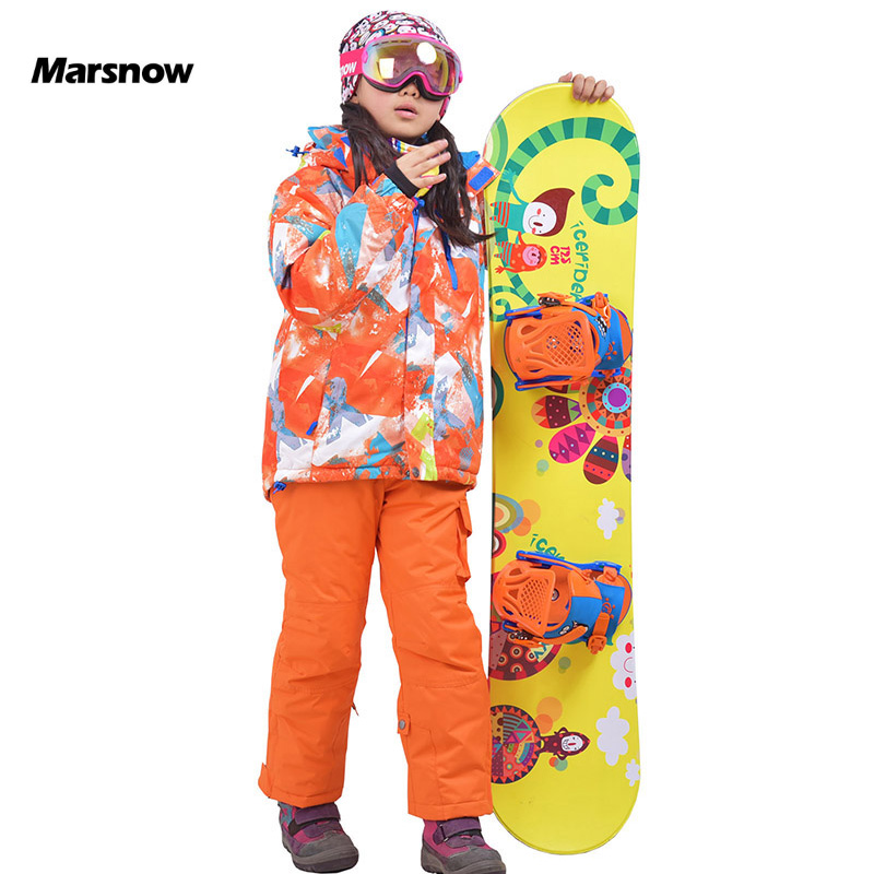 Marsnow -30 Degree Ski Children Jacket Suits Set Hooded Warm Skiing Kids Waterproof Windproof Boys Girls Snowboard Jackets Pants marsnow children ski jacket boys girls warm winter skiing snowboard jackets child windproof waterproof outdoor kids snow coats