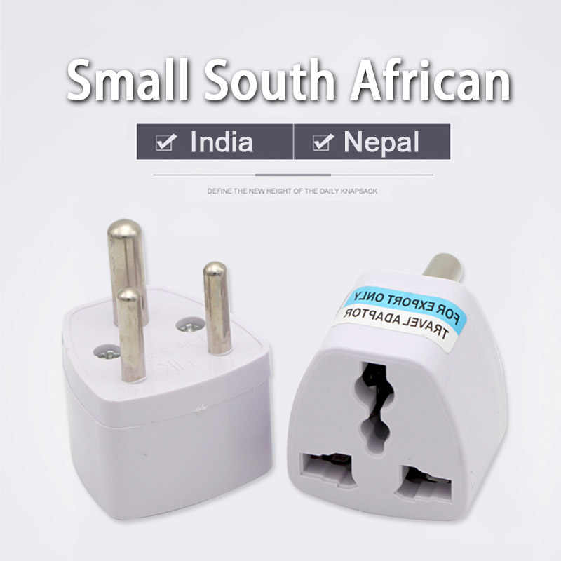 1pc 3 Pin Universal Uk Us Eu Au To Small South Africa Plug