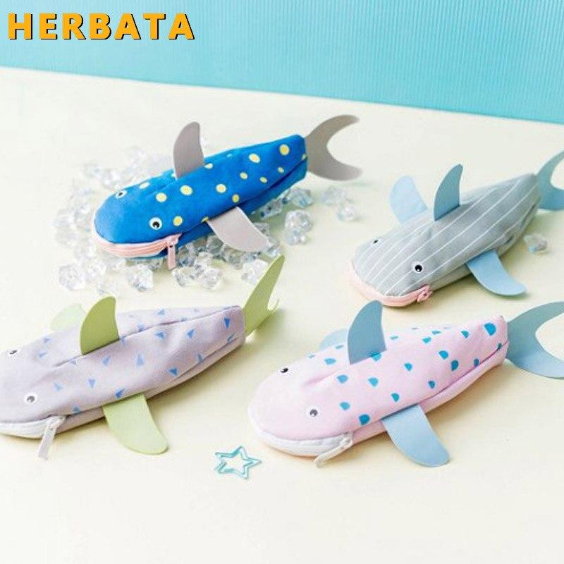 Ferramentas da escola escola produtos de papelaria material escolar papelaria Criativa escola caixa de lápis de papelaria saco do lápis peixe tubarão