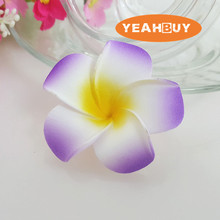 wholesale 100pcs 5cm hawaian 5COLORS  real touch Artificial PE plumeria Flower Heads DIY wedding party headware decoration