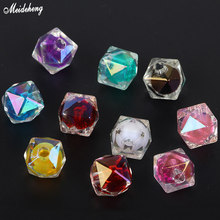 Fashion Jewelry Single Hole Tail DIY Beads Tangent Plane DiamondShaped Square Interior Color Accessory