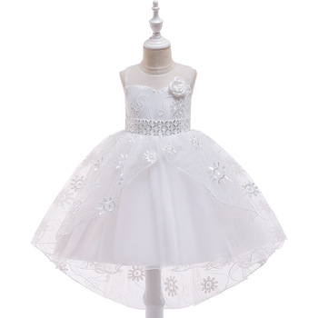 New 2019 Girls  Tulle Tutu Ballgown Dresses  Flower Girl Dresses For Weddings  Kids First  Communion Dresses 2018 flower girl dresses for weddings first communion dresses for girls tulle a line girls pageant dresses cute