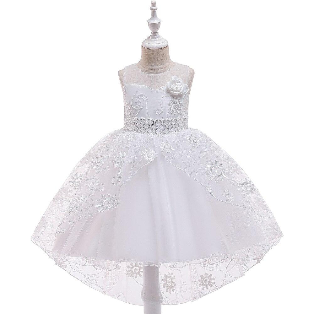 New 2019   Girls   Tulle Tutu Ballgown   Dresses     Flower     Girl     Dresses   For Weddings Kids First Communion   Dresses