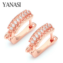 4Colors Earrings Hooks Shiny CZ Zircon Accessories For Jewelry Making DIY Woman Pearls Tassel Earrings Jewellery Making Supplies(China)