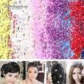 5 M 4 unids/lote 17 colores línea de pesca perlas artificiales cuentas de cadena de guirnalda flores DIY boda decoración productos