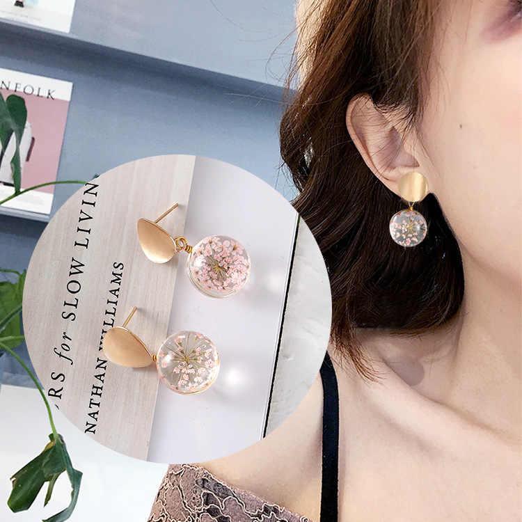 Di modo coreano temperamento selvaggio paillettes palla di vetro orecchini 2018 delle donne di modo dei monili del regalo all'ingrosso