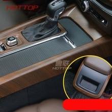 Внутренняя Центральная крышка коробки передач декоративная рамка для Volvo XC60 автомобильный Стайлинг ABS 2 шт(подходит только для левостороннего привода