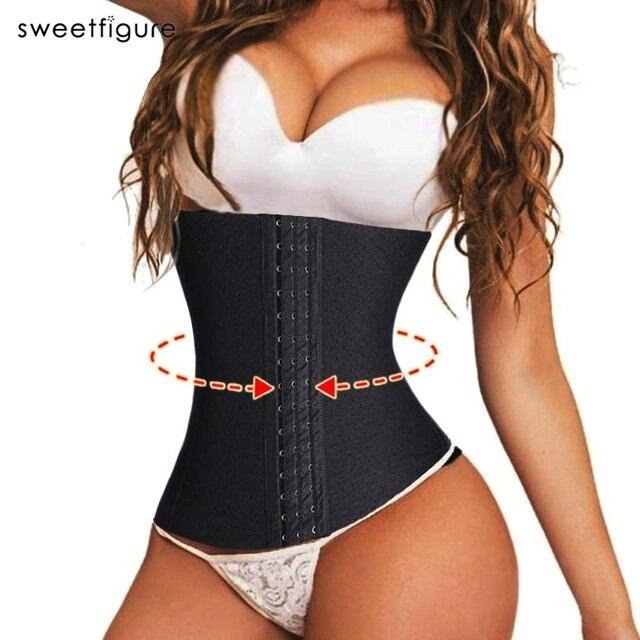 00132e0fdd New Women Waist Cincher Waist Trainer Body Waist Corsets Buties Chest  Binder Butt Lifter Girdle Slimming Belt