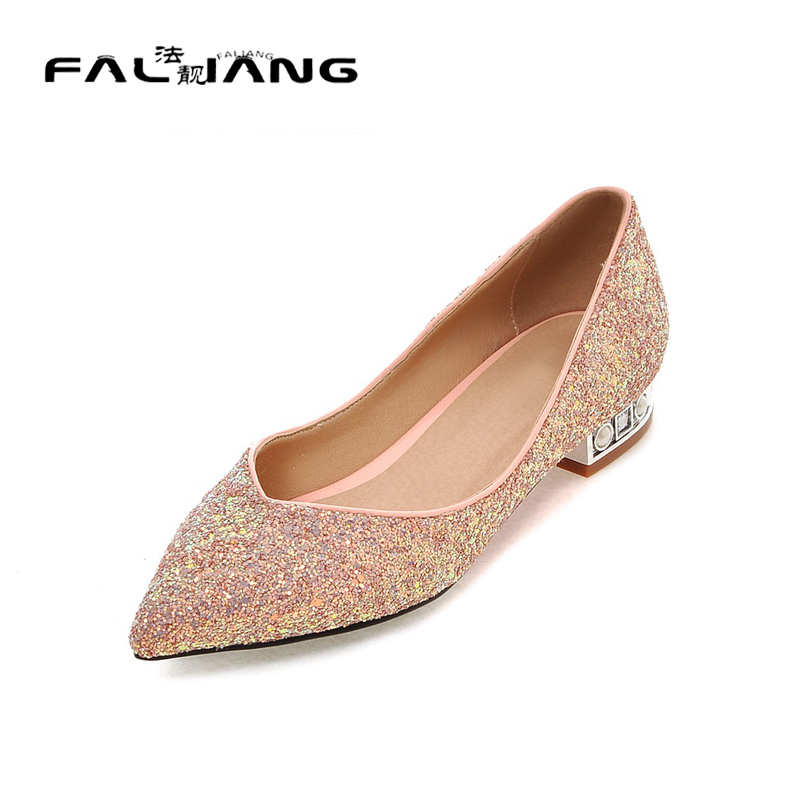 ФОТО Big Size 11 12 Spring/Autumn Sexy Pointed Toe Shallow Casual Square heel Women's Shoes Pumps Woman For Women