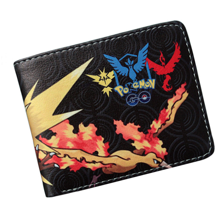 Anime Cartoon Wallets Bifold Game Pokemon Go pikachu Wallet For Teenager Women Men Pocket Monster Purse  coin purses holders pokemon go print purse anime cartoon pikachu wallet pocket monster johnny turtle ibrahimovic zero pen pencil bag leather wallets