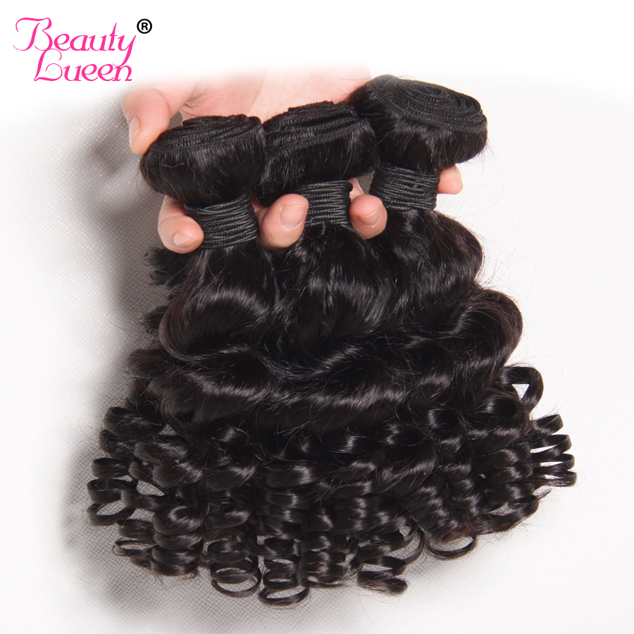 Beauty Lueen Peruvian Human Hair Weave 3 Bundles Loose Wave Bundles Natural Black Double Weft Non Remy Hair Extensions