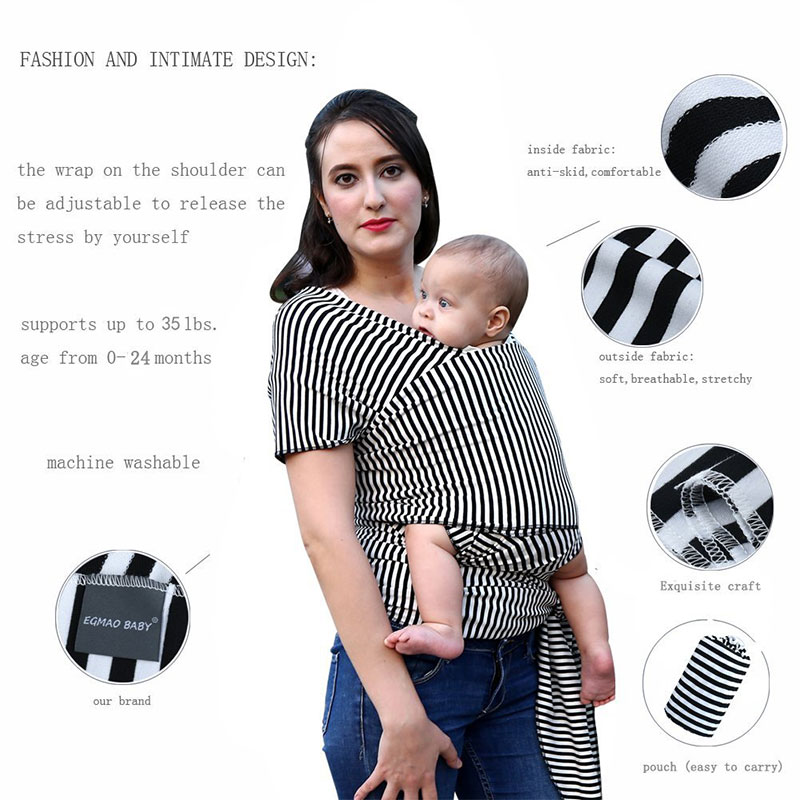 New Baby Sling Baby Carrier Wrap For Newborns Striped Cotton Elasticity Kangaroo Infant Backpack For Toddle & Infants