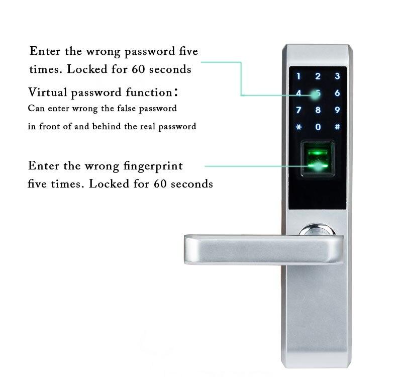 HTB1XAZigBjTBKNjSZFuq6z0HFXaa LACHCO 2019 Biometric Fingerprint Electronic Smart Door Lock, Code, Card,Touch Screen Digital Password Lock Key for home Ak18A3F