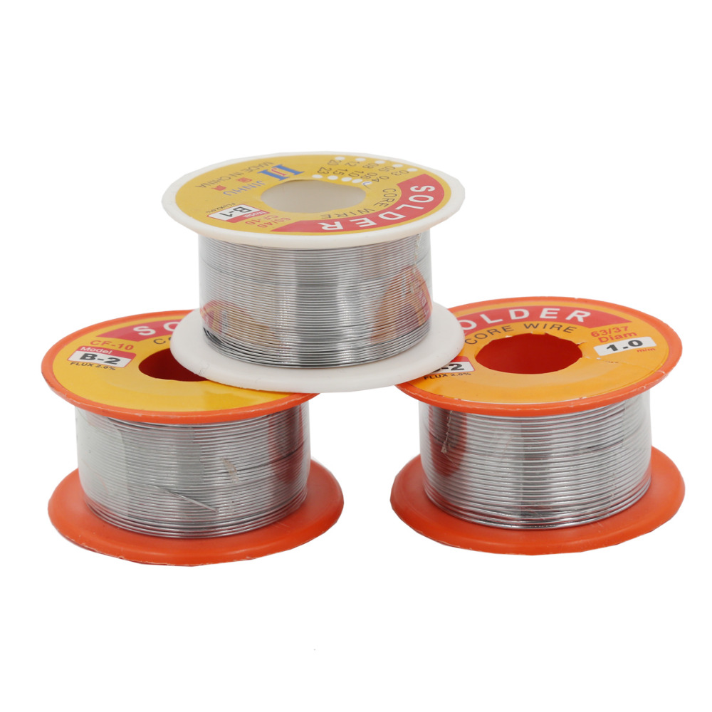 0.3/0.4/0.5/0.6/0.8/1mm 63/37 FLUX 2.0% Tin Lead Tin Wire Melt Rosin Core Solder Soldering Wire Roll 40%off
