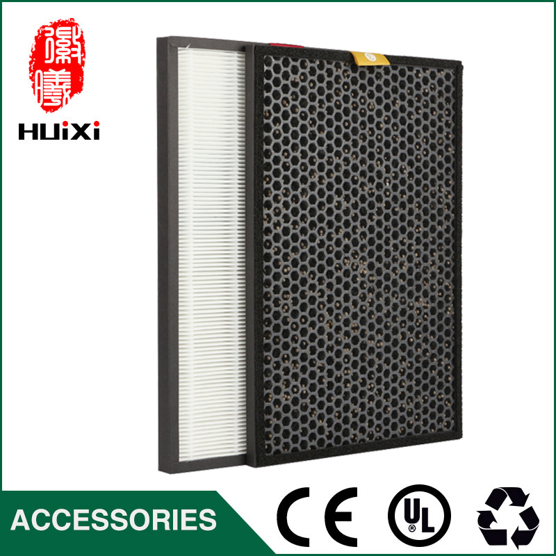 The HPF35M1120 hepa filter + OCF35M6001HiSiv activated carbon filters, hot sale high efficient composite air purifier parts high efficient filter kits formaldehyde filter activated carbon filter hepa filter for ac4002 ac4004 ac4012 air purifier