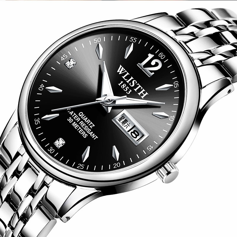 2019WLISTH  часы мужские fashion mens quartz waterproof watch genuine luxury watches relogio masculino