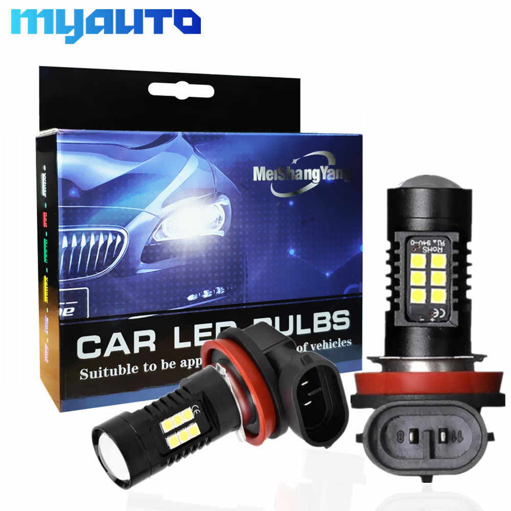 2pcs Fog Lamp H11 LED H8 HB3 9005 HB4 9006 LED Bulbs 1200LM 6000K White Car Driving Running Lights Auto Lamp 12V 24V