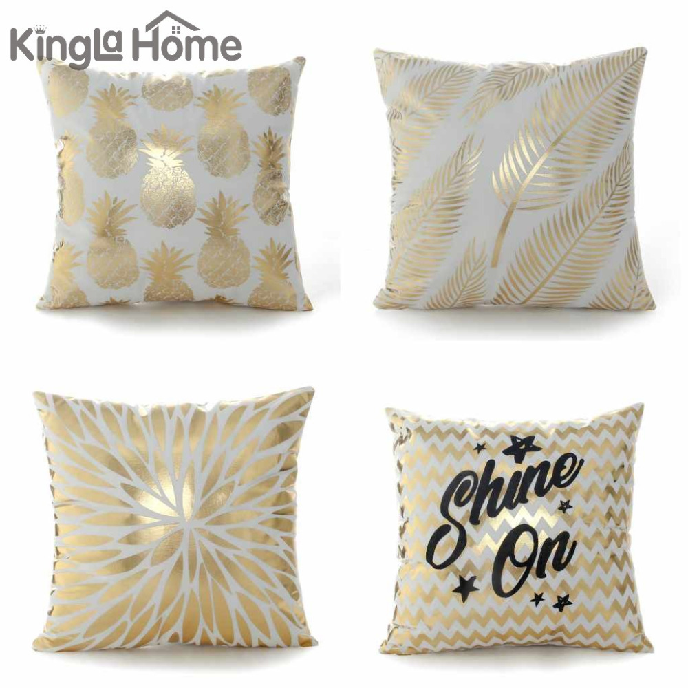 popular bronze throw pillowsbuy cheap bronze throw pillows lots  - bronzing pillowcase unique zippered decorative leaves pineapple floralpattern throw pillows covers xcm square cushion cover
