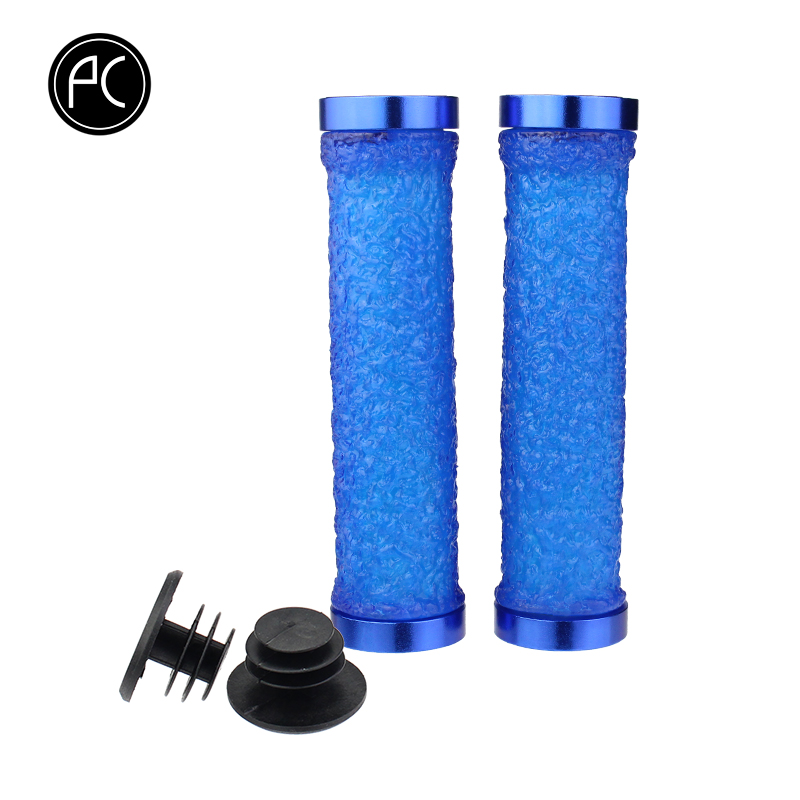 PCycling Bicycle Grips Bike Soft Non-Slip Handlebar Grips Ends Cycling Parts Silicone Crystal Handle Grips MTB Road Bike Grips