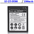 2300mAh Battery for Samsung Galaxy S3 S III i9300 GT-I9300 I9305 L710 i747 i535 R530 T999 M440S Bateria Batterij Accumulator