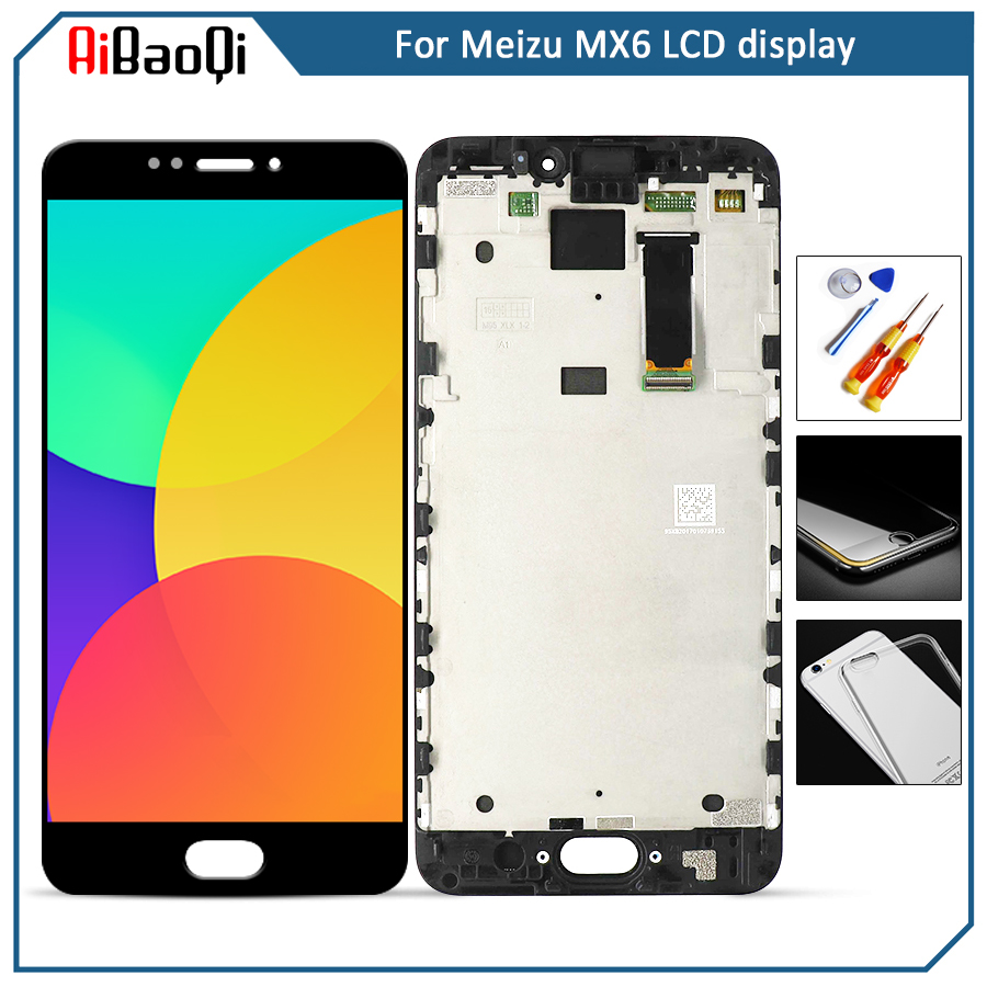 For 5 5 Meizu MX6 M685U M685C M685Q M685M LCD screen display Touch Digitizer with frame
