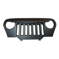 1 Pc Easy Install Black ABS Front Grill Fits Jeep Wrangler TJ 1997 2006