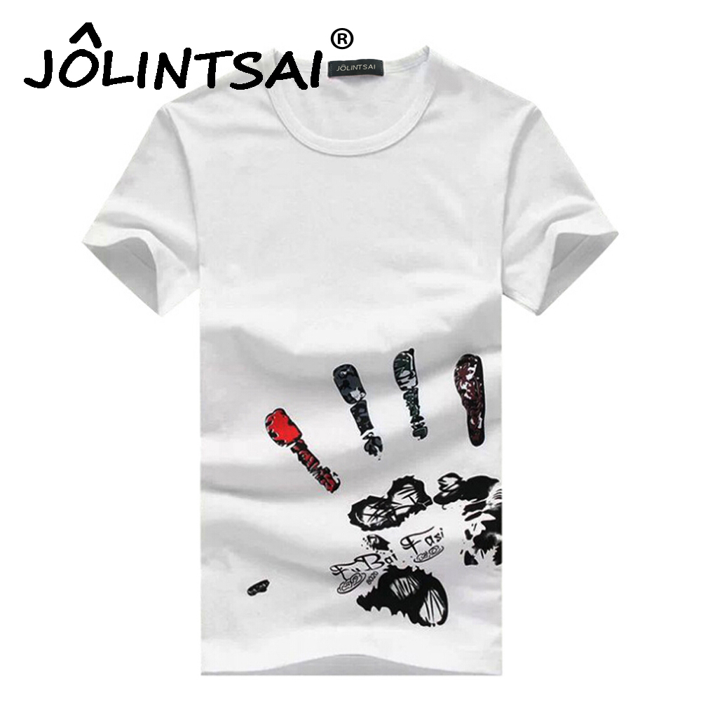 New arrival creative art design t shirts simple finger for Promotional t shirt design