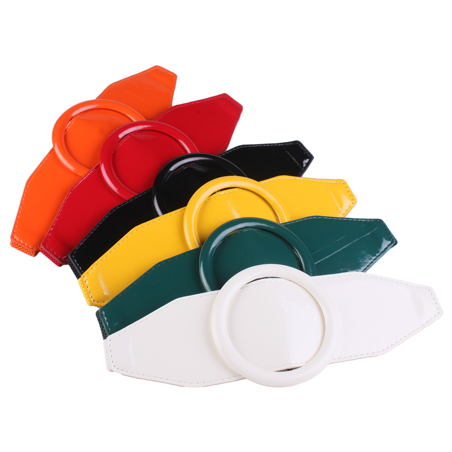 Simple Paint Elastic Obi Fashion Candy Colors Decorated Dress Accessories Ring Lumbar Pad ACTS The Role Of Sealing V655
