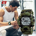 TTlife Hombres Impermeable de Camuflaje Del Ejército Militar Reloj LED Digital Relojes Deportivos Relogio masculino Esportivo Choque Reloj