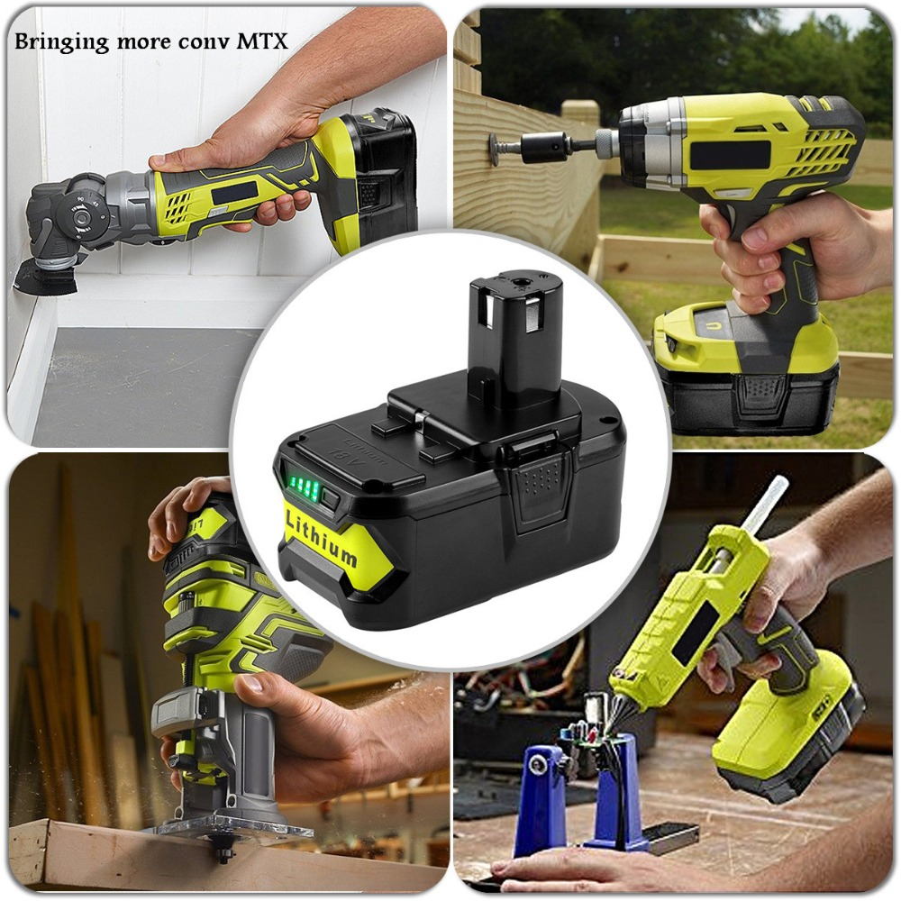 2x High Capacity 18V 4000mAh 5000mAh Li Ion For Ryobi Hot P108 RB18L40 Rechargeable Battery Pack Power Tool Battery Ryobi ONE+