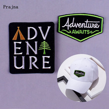Prajna Adventure Explorer Patch Embroidery Iron on Patches for Clothing Mountain Traveling Applique Wood Brick Accessory Badge F